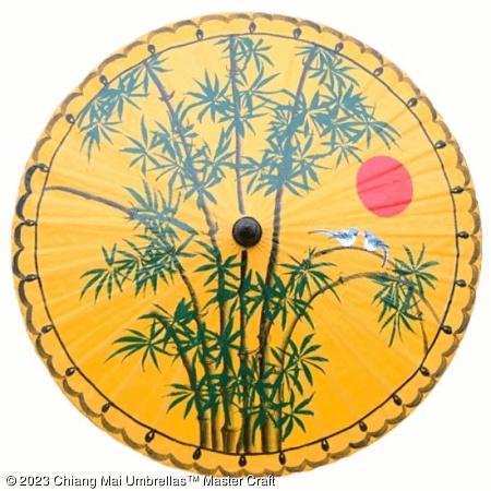 Classic Umbrella - Bamboo on Yellow