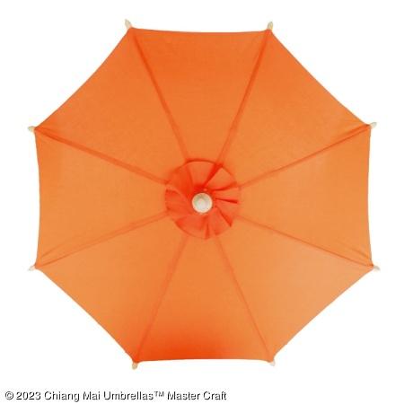 Color sample: Orange Canvas Umbrella