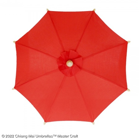 Color sample: Red Canvas Umbrella
