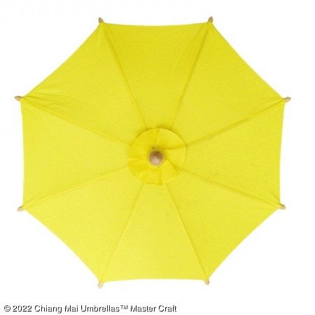 Color sample: Yellow Canvas Umbrella