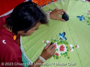 Image - Fabric Umbrellas - Artisan Painting