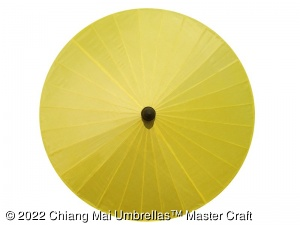 Artificial Silk Umbrella in Yellow