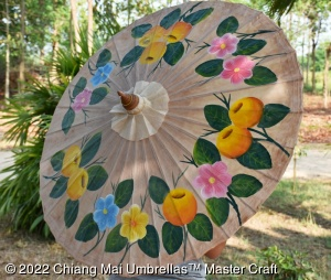 Classic Chiang Mai Umbrellas Hand Painted Fruit Ring