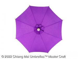 Image - Canvas Umbrella in Solid Color - Wholesale Canvas Umbrellas