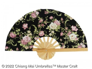 Image - Fabric Hand Fans - Wholesale - front view