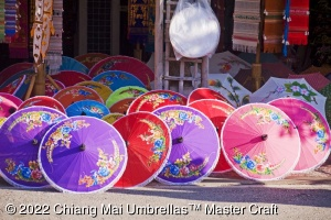 Wholesale Artificial Silk Umbrellas with Hand Painted Designs