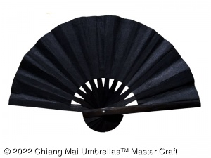 Mulberry Paper Hand Fan Black Fan