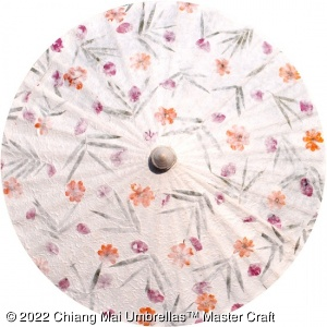 Pressed Flowers Wedding Umbrellas