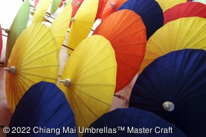 Thailand paper umbrellas in assorted solid colors - 60 cm diameter
