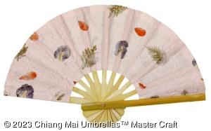 Image - Light pink pressed flowers fan