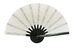 Paper Hand Fans with Black Bamboo Frame - Color Samples