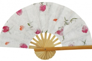Pressed Flowers Wedding Fans - Samples