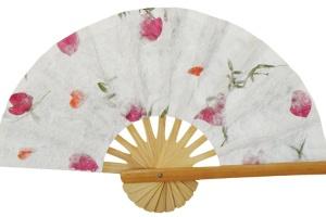 Pressed Flowers Wedding Fans - Samples