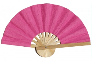 Mulberry Paper Fans with Natural Frame - Color Samples