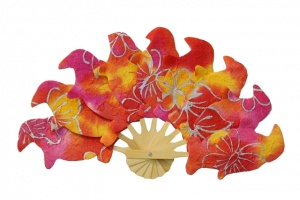Paper Folding Fans in Batik Shapes - Shape and Color Samples