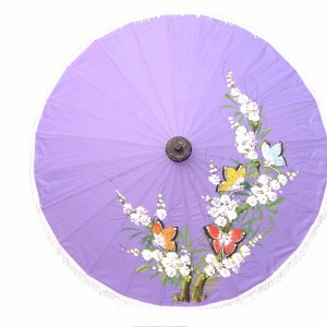 Artificial Silk - Light Fabric Umbrellas - Painting Samples