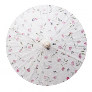 Pressed Flowers Wedding Umbrellas - Color and Design Samples