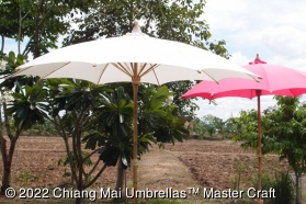 Canvas Umbrellas 250 cm diameter Off-White and Pink