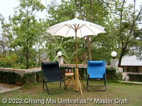 Canvas Patio Umbrellas - Pure 100% Cotton Canvas in Off White