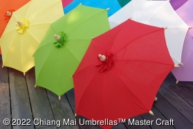 Fabric Umbrellas Assorted Colors