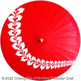 Chiang Mai Classic Umbrellas with Hand Painted Design