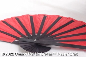 Mulberry Paper Fans with Black Bamboo Frame