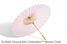 Image - Pink Brelli, medium - transparent umbrella