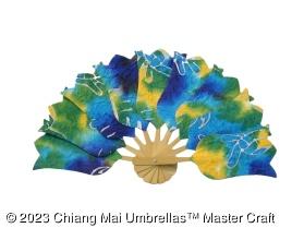 Paper fan in batik shape - Tulip